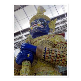 estatua tailandesa del oro tarjeta postal