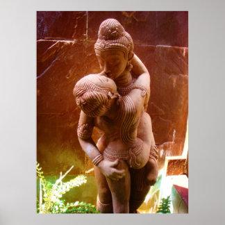Estatua Tantric del sexo Póster