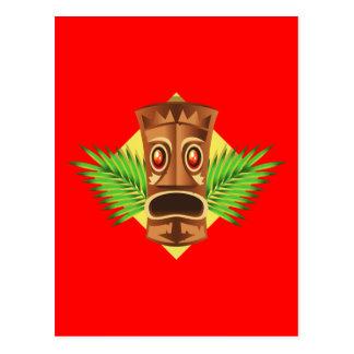 Estatua tropical de Tiki que aterroriza con las Postal