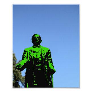 Estatua verde impresiones fotográficas