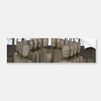 Estatuas conmemorativas en Berlín Alemania Pegatina Para Coche