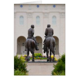 Estatuas de José y de Hyrum Tarjeta De Felicitación