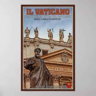 Estatuas de la Ciudad del Vaticano Posters