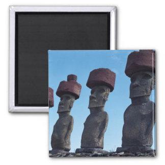 Estatuas de Moai Imán Cuadrado