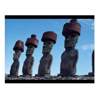 Estatuas de Moai Tarjetas Postales