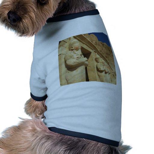Estatuas de Osirian de Hatshepsut en su tumba Camiseta Con Mangas Para Perro