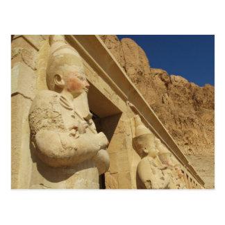 Estatuas de Osirian de Hatshepsut en su tumba Tarjeta Postal