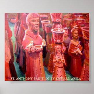 Estatuas de St Anthony Póster