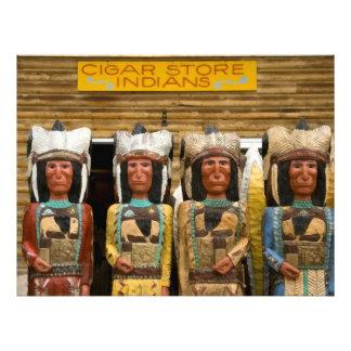 Estatuas del indio de la tienda de cigarro fotografia