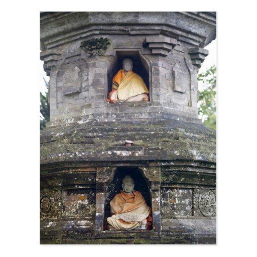 Estatuas del templo de Ulun Danu, Bali, Indonesia Tarjeta Postal