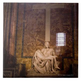 Estatuas, el Vatican, Roma, Italia Azulejo Cuadrado Grande