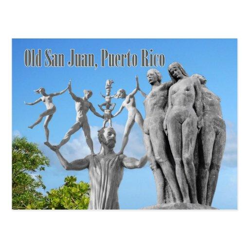 Estatuas en San Juan viejo, San Juan, Puerto Rico Postales
