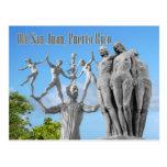 Estatuas en San Juan viejo, San Juan, Puerto Rico Tarjeta Postal