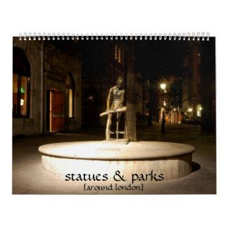 estatuas y calendario de los parques [alrededor de