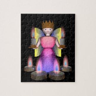 estatuilla del ángel con las velas puzzle