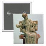 Estatuilla del Aphrodite que juega con eros Pin Cuadrada 5 Cm