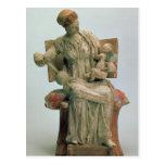 Estatuilla del Aphrodite que juega con eros Tarjeta Postal