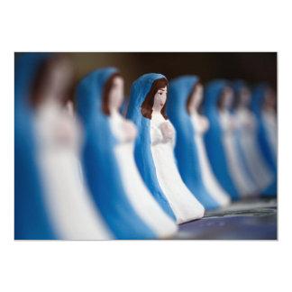 Estatuillas pintadas a mano del Virgen María Anuncio