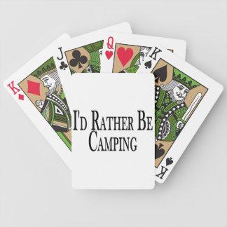 Esté acampando bastante barajas