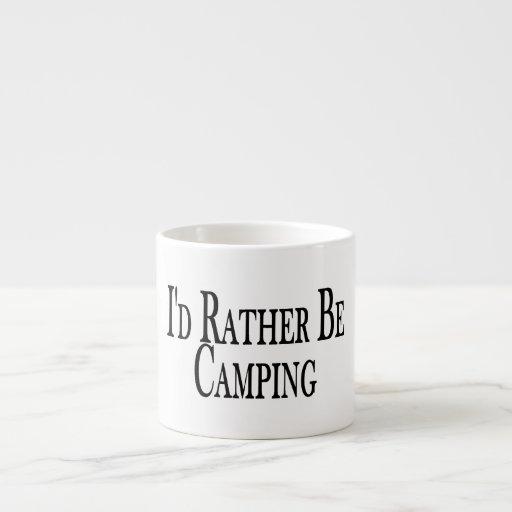 Esté acampando bastante taza espresso