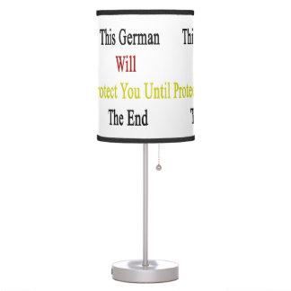 Este alemán le protegerá hasta el extremo