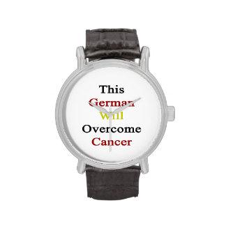 Este alemán superará al cáncer relojes de pulsera