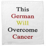 Este alemán superará al cáncer servilletas