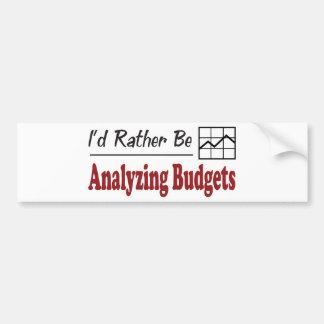 Esté analizando bastante presupuestos pegatina de parachoque