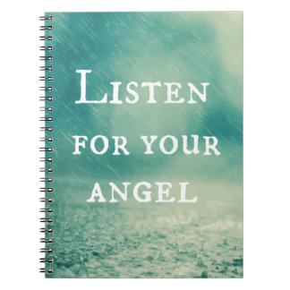 Esté atenta su cita del ángel libretas