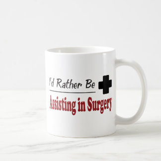 Esté ayudando bastante a cirugía taza