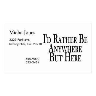 Esté bastante dondequiera pero aquí tarjetas de visita