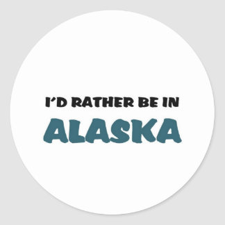 Esté bastante en Alaska Etiqueta Redonda