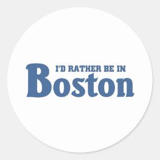 Esté bastante en Boston Pegatina Redonda