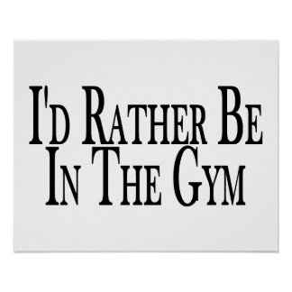 Esté bastante en el gimnasio poster