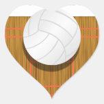 Esté bastante en la corte de voleibol pegatina de corazon personalizadas
