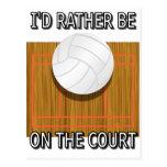 Esté bastante en la corte de voleibol postales