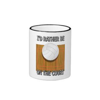 Esté bastante en la corte de voleibol taza de dos colores