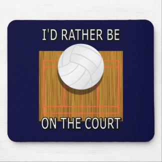 Esté bastante en la corte (el voleibol) mouse pad
