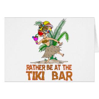 Esté bastante en la DIOSA de la barra de Tiki Tarjeta De Felicitación