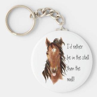 Esté bastante en la parada que humor del caballo d llavero personalizado