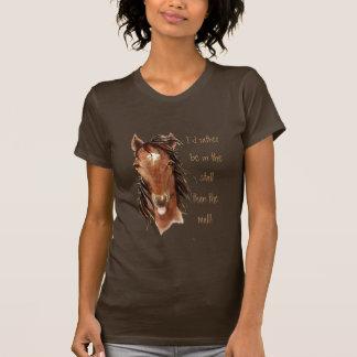 Esté bastante en la parada que humor del caballo d camiseta