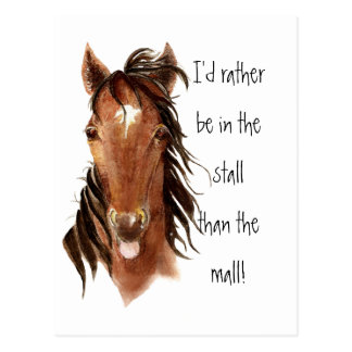 Esté bastante en la parada que humor del caballo d tarjetas postales