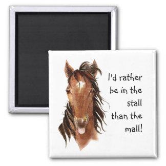 Esté bastante en la parada que humor del caballo imán cuadrado