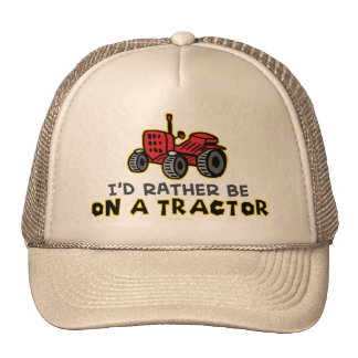 Esté bastante en un tractor gorros