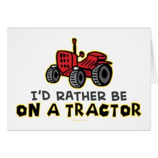 Esté bastante en un tractor tarjeta de felicitación