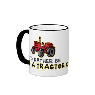 Esté bastante en un tractor taza