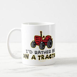 Esté bastante en un tractor tazas de café