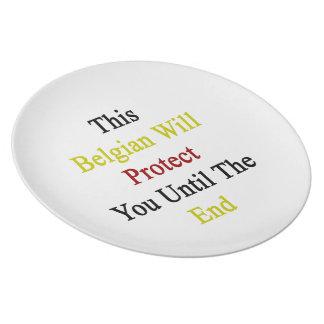 Este belga le protegerá hasta el extremo plato