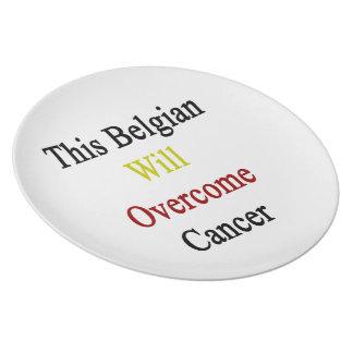 Este belga superará al cáncer plato de comida