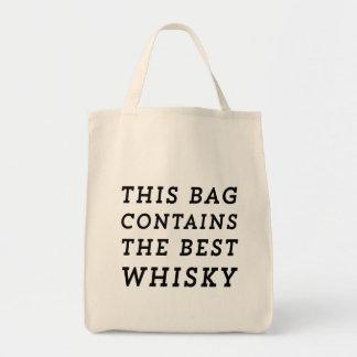 Este bolso contiene el mejor whisky bolsa tela para la compra